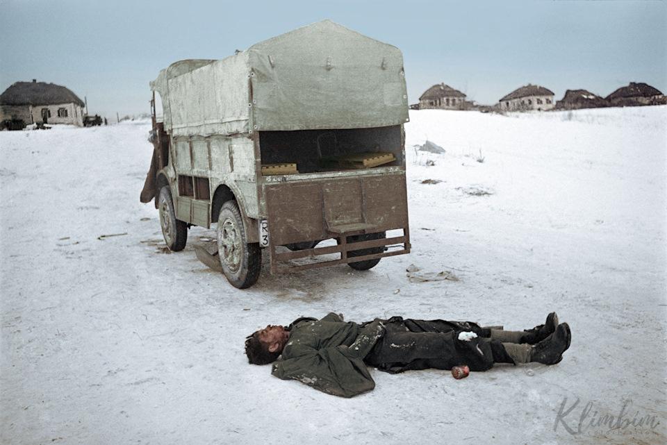 Техника Великой Отечественной войны на цветных фотографиях