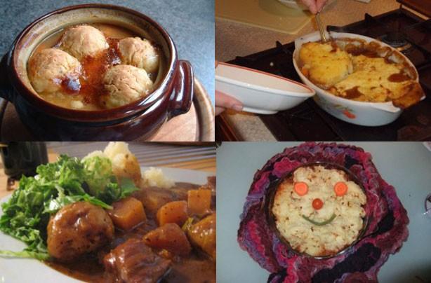 Зимние горячие блюда в картинках.