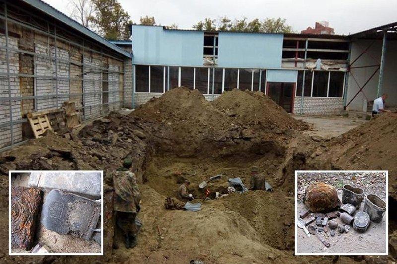 В Волгограде ремонтники нашли массовое немецкое захоронение