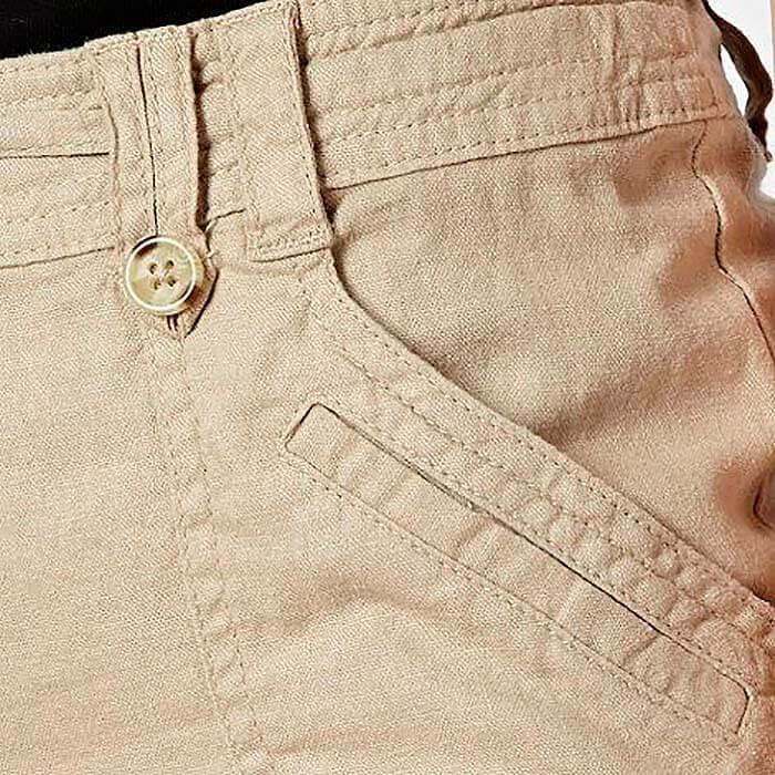 Готовые карманы на сшитых своими руками женских брюках, пример 3
