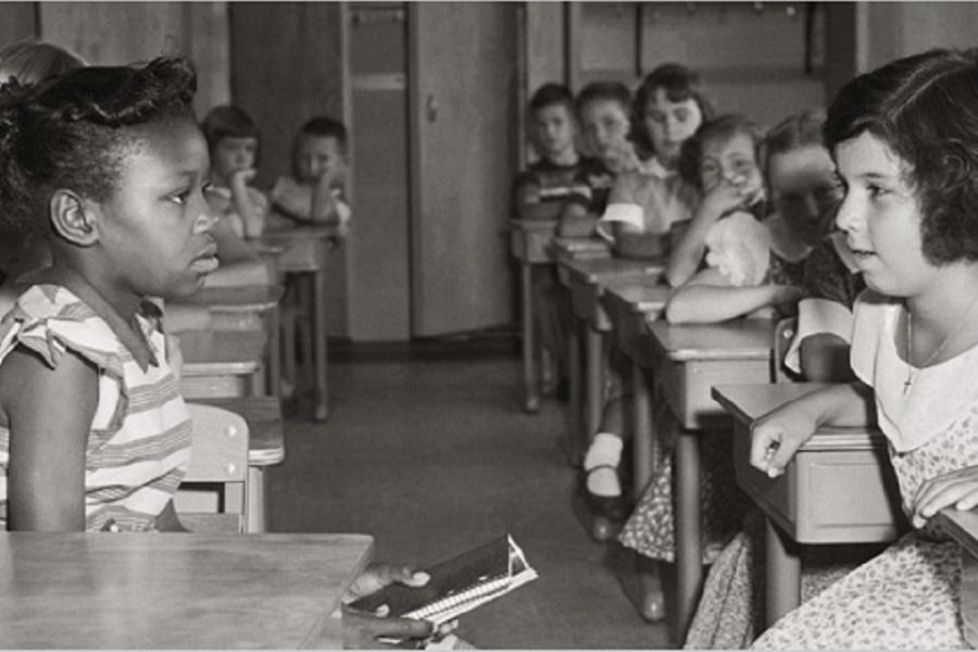 segregated schools cartoon - 900×600