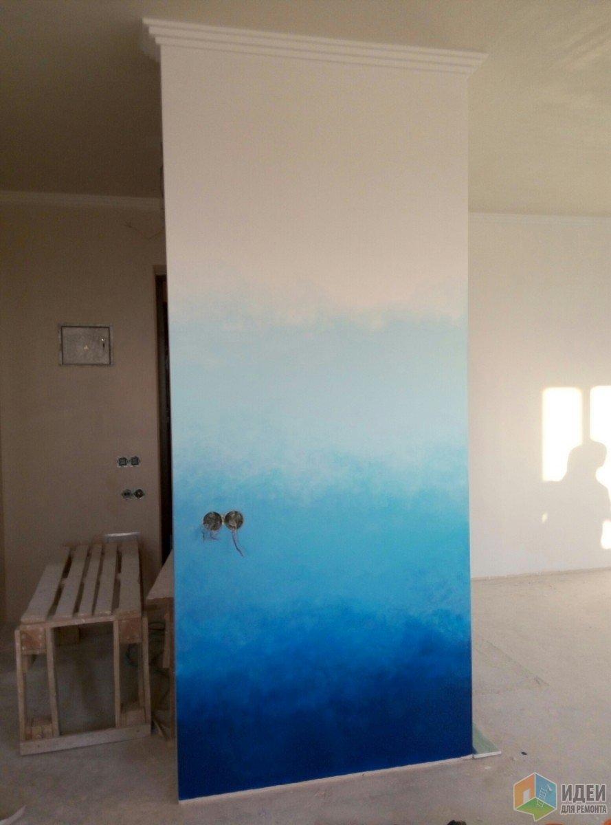 СтройРемПлан. Личный опыт. Покраска стен градиентом