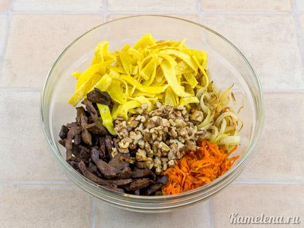 Салат с говяжьей печенью — 12 шаг
