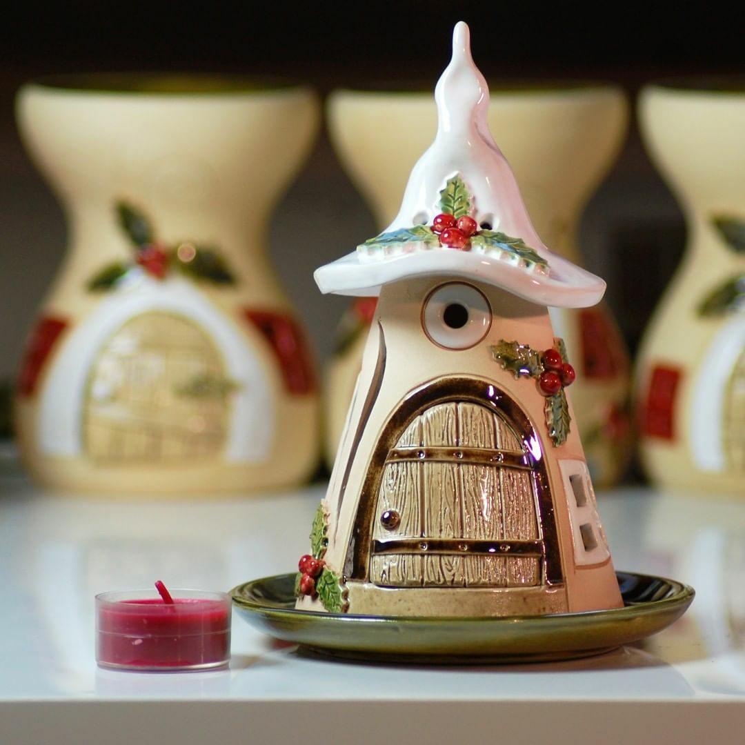 Домики для фей: волшебные керамические подсвечники Antje Rosemann вдохновляемся,декор,керамика