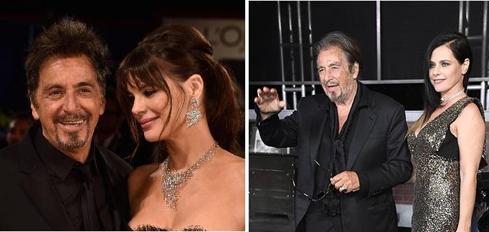 74-летний Аль Пачино и аргентинская актриса Люсила Сола. / 79-летний Аль Пачино и израильская актриса Мейталь Дохан.
