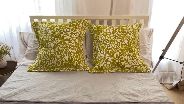 Как обновить подушки за 10 минут без лишних трат интерьер,переделки,рукоделие,своими руками,сделай сам