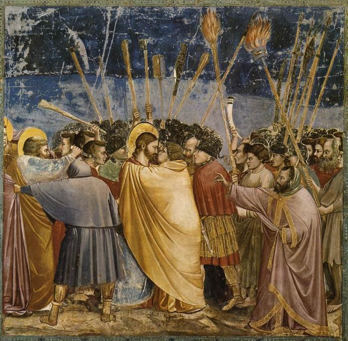 Поцелуй Иуды (1306 г.) - Джотто.
