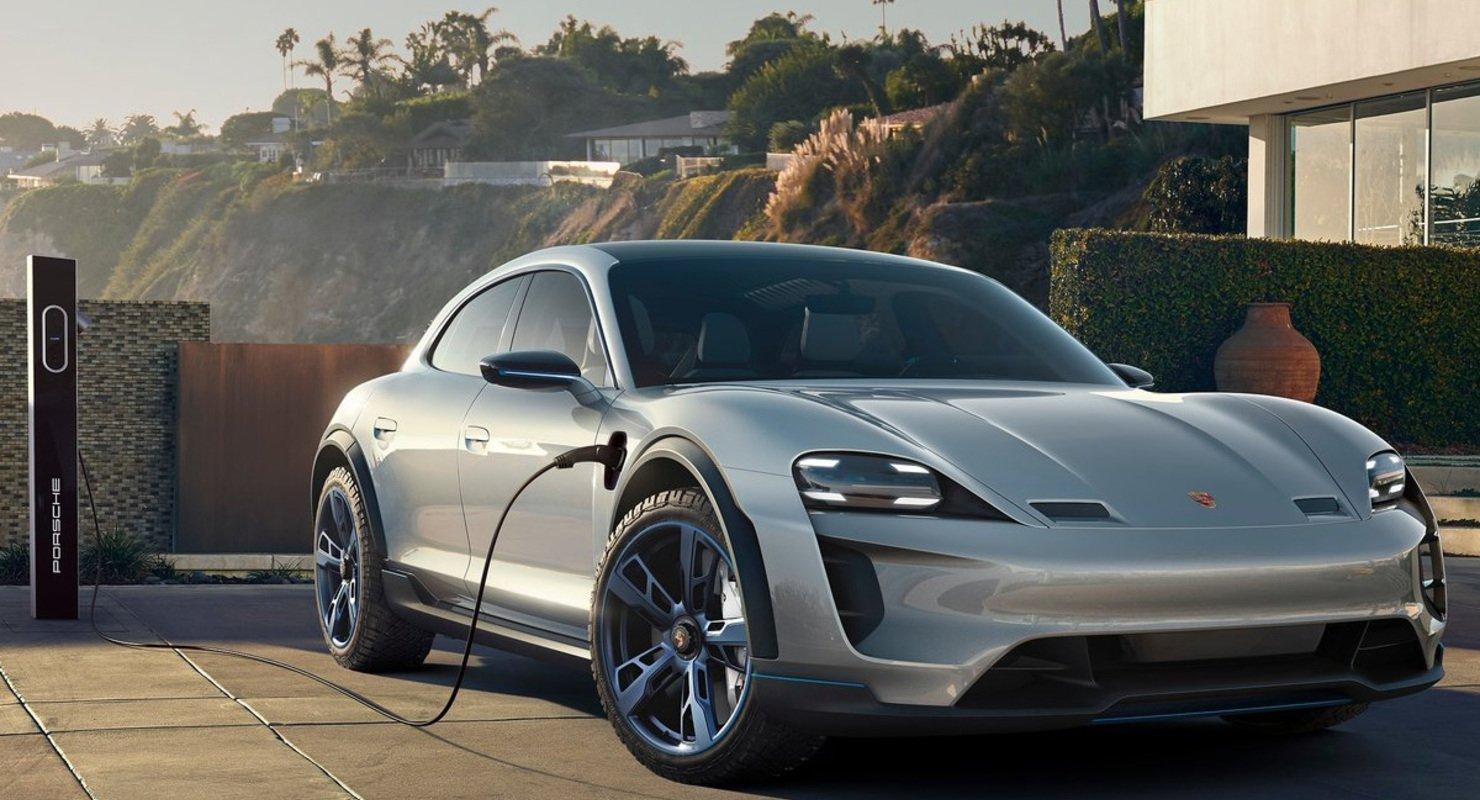 Современный стиль электромобиля — Porsche Mission E Cross Turismo Автомобили