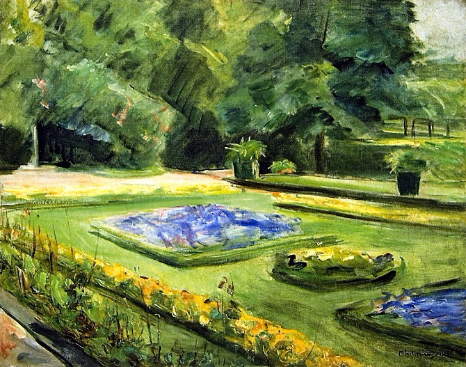 The Terrace in the Wannsee Garden toward the Northeast. 1923 (670x527, 558Kb)