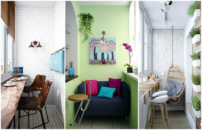 Вдохновляющие идеи для оформления небольших балконов и лоджий