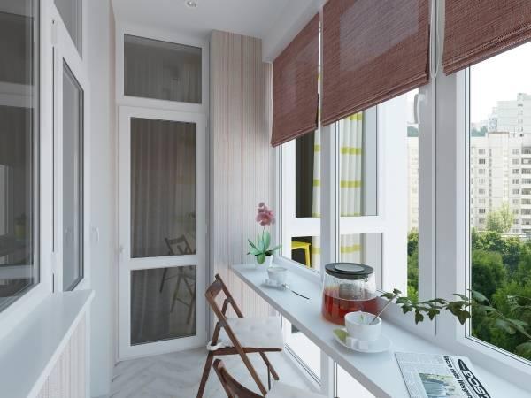 Удобная барная стойка на балконе из подоконника - фото идеи