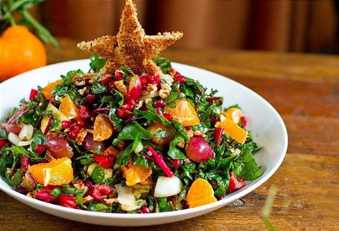 украшение зеленых салатов на новый год
