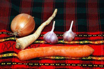 Овощи для навара и чеснок