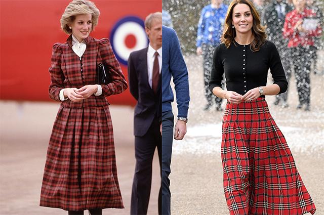 По наследству: как Кейт Миддлтон вдохновлялась модными образами принцессы Дианы Монархии