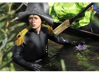 Зеленое чудо–иудо в болоте