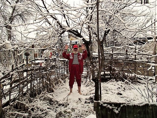 снег в январе...