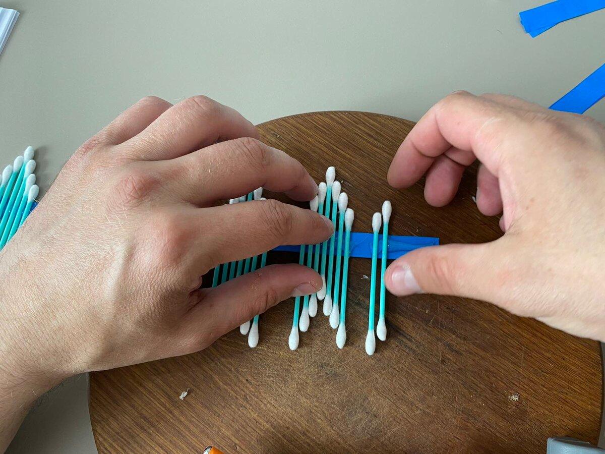 Берём обычные ватные палочки и делаем оригинальную вещь для дома декор,мастер-класс