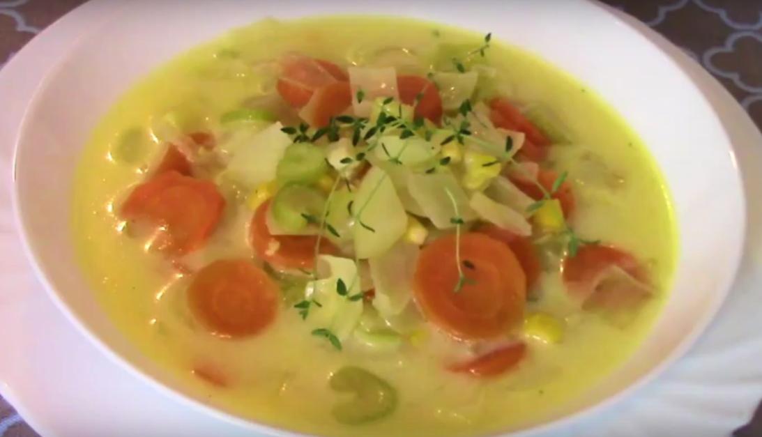 Очень вкусный овощной сырный суп