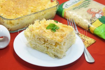 Запеканка из макарон «Три сыра»