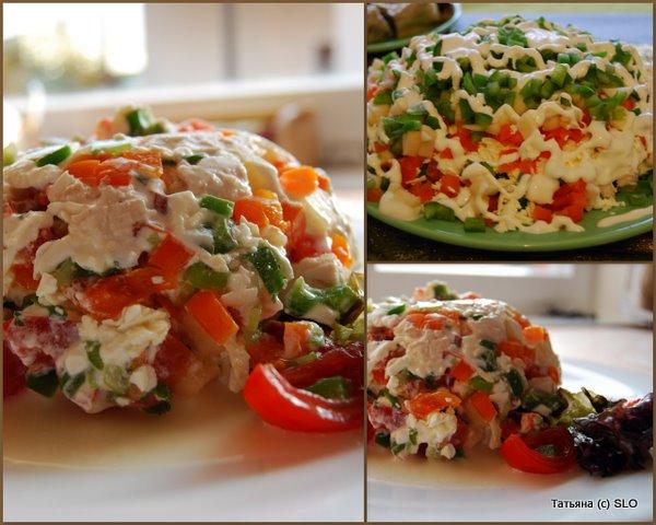 салат очень легкий и вкусный.