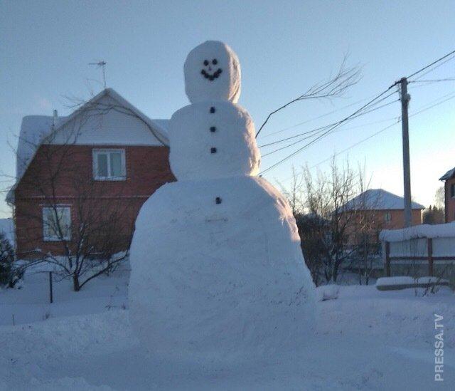 100 тысяч за самого высокого снеговика