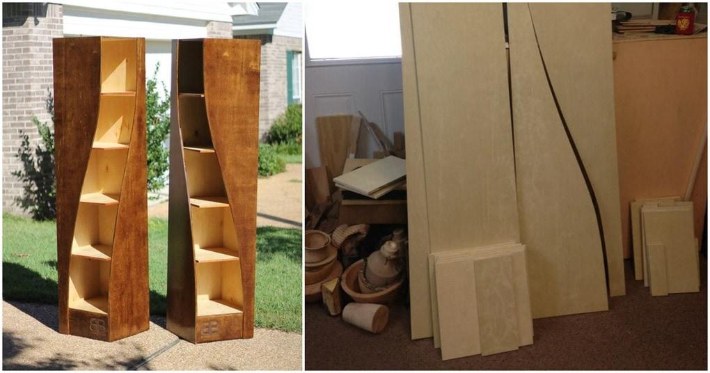 Отец и сын превращают пять деревянных панелей в изящные винтажные полки. Вы тоже так захотите