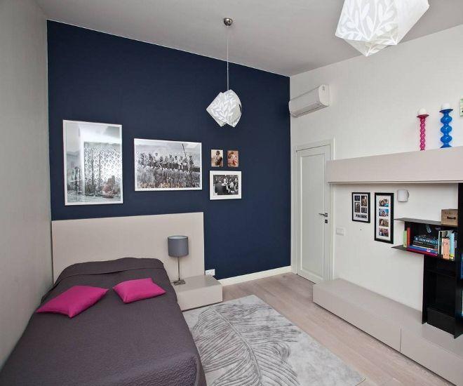дизайн детской спальни синий