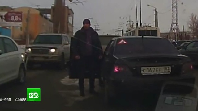 В центре Уфы произошел дорожный конфликт со стрельбой