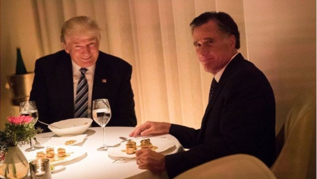 Romney Dines with Trump