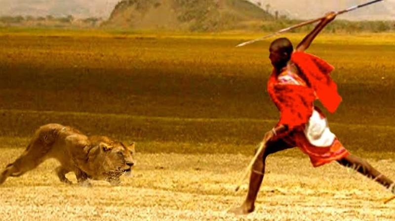 4. Масаи - охота на льва мир, ритуал, странность