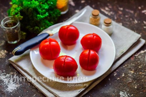 томаты разрезать