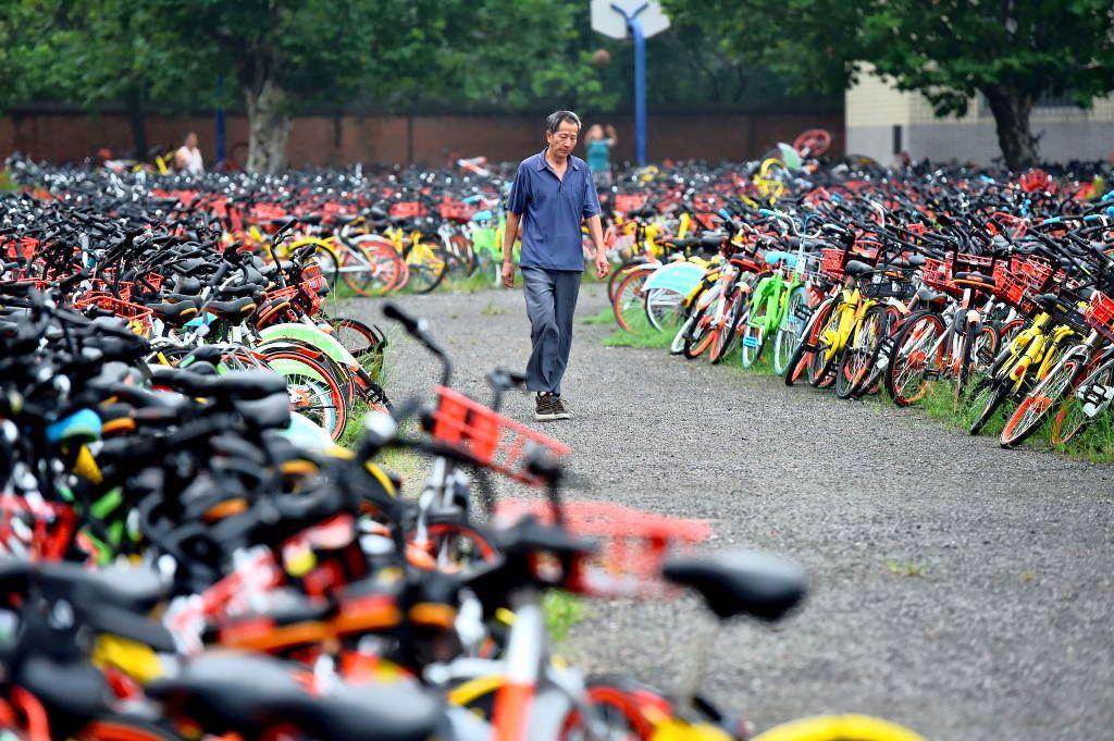 Свалка конфискованных велосипедов в Китае
