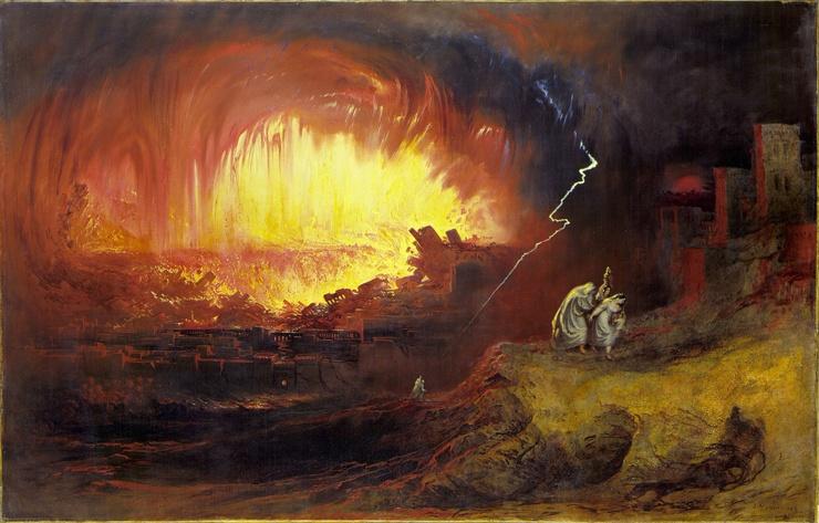 Уничтожение Содома и Гоморры, 1852 год