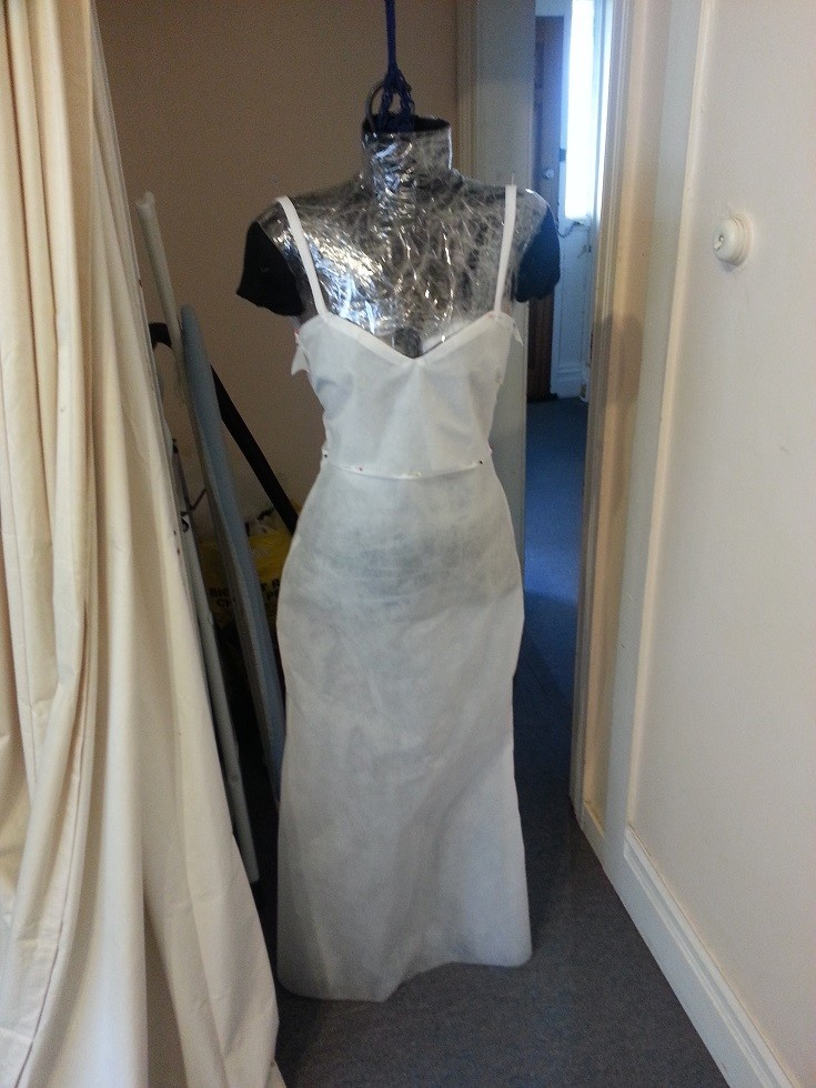 Пробные наметки будущего платья платье, своими руками, создание