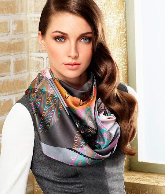 модный платок на шею 2017, как завязать видео фото