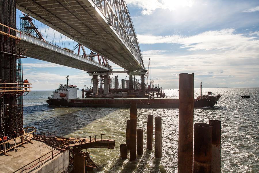 Керченский мост этапы строительства фото