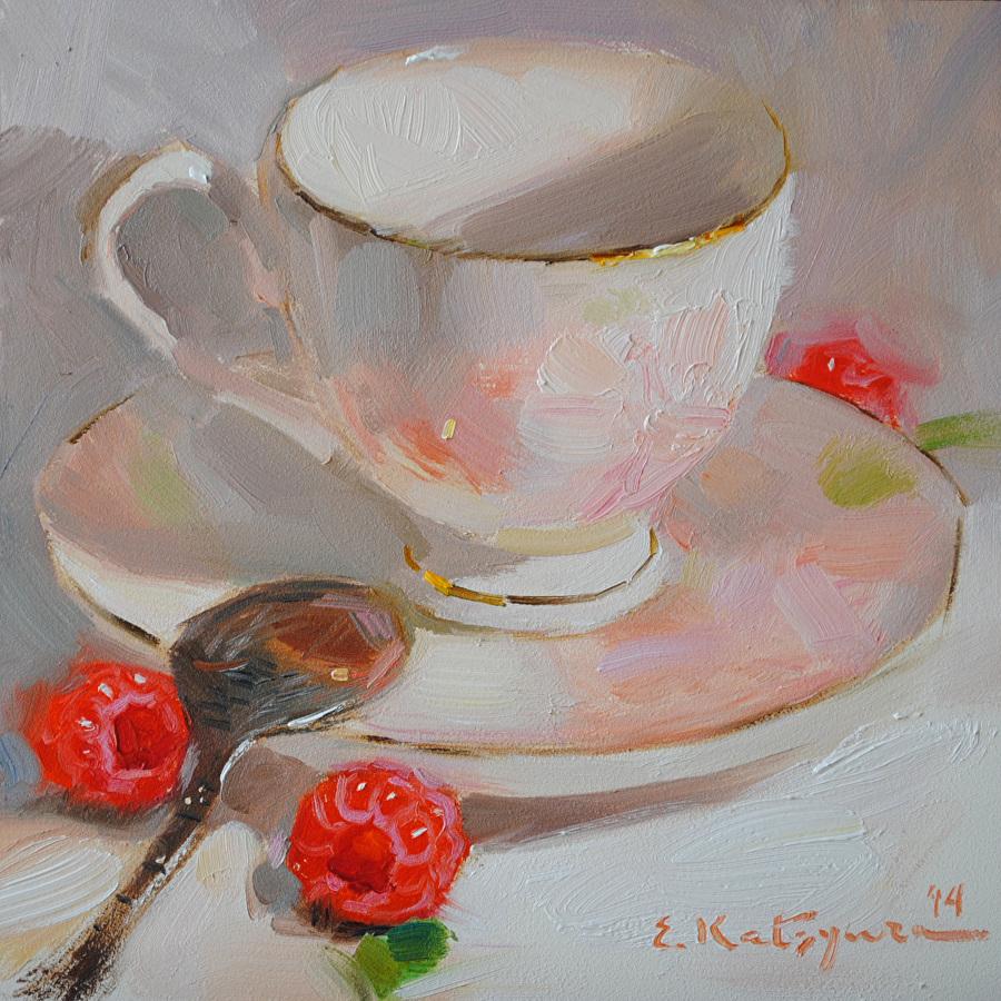 Вкусное чаепитие от художницы Елены Кацура