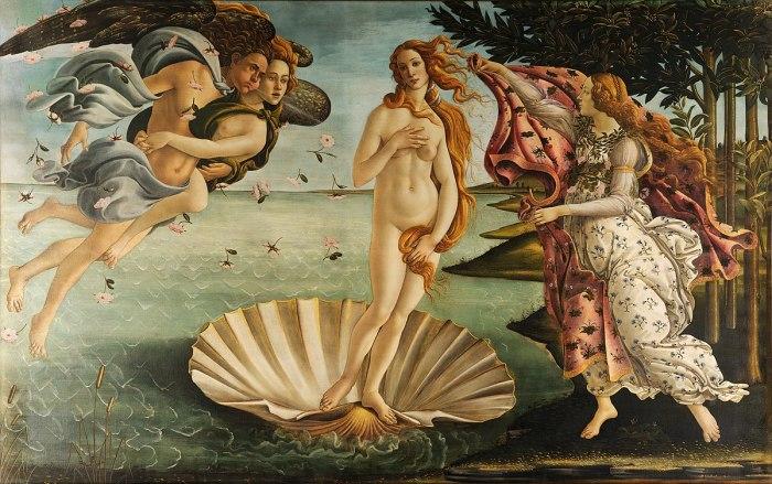 Рождение Венеры (1486) - Боттичелли.