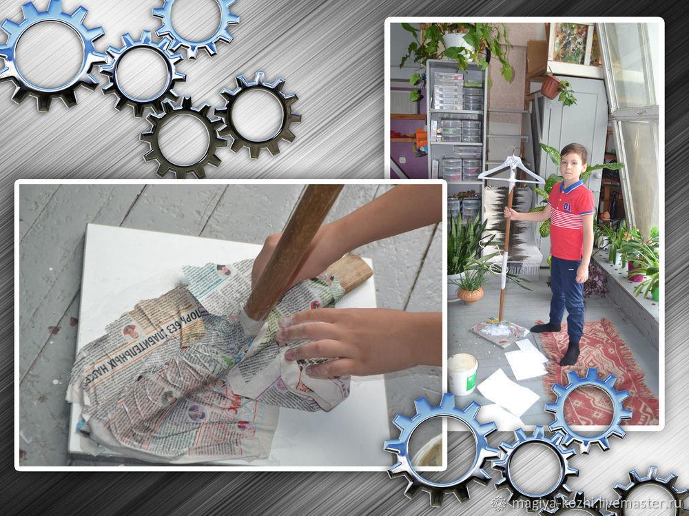 Создаем необычную напольную вешалку, фото № 6