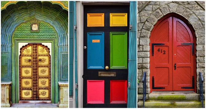 оригинальные красивые входные двери