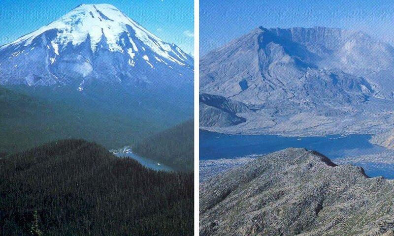 3. Вулкан Сент-Хеленс до и после извержения было стало, в мире, люди, подборка, сравнение, фото
