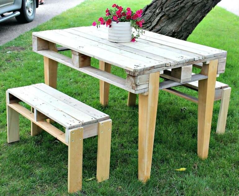 Как смастерить стол в беседку из подручных материалов? для дома и дачи,мастер-класс,мебель
