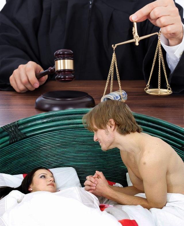 К жене подходи, только — через нотариуса?