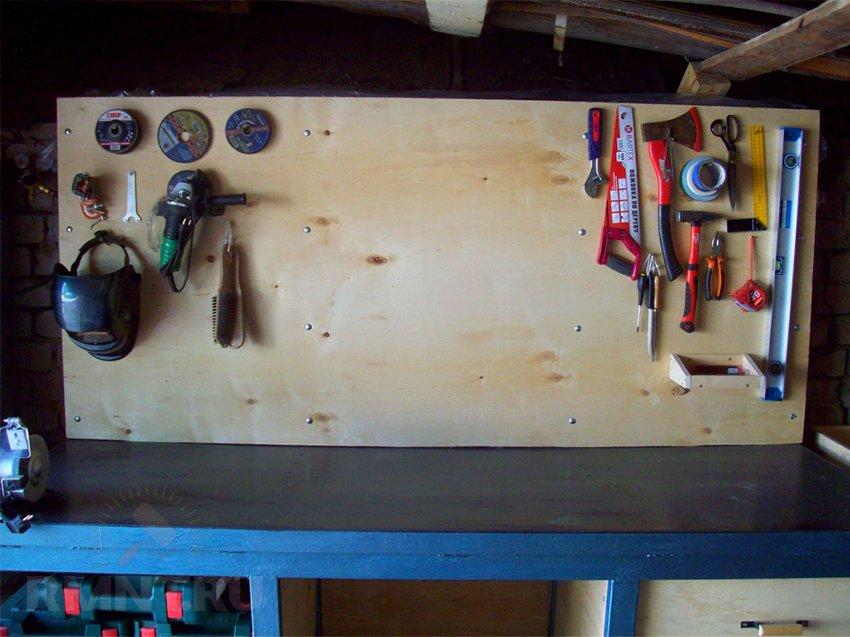 Слесарный стол в гараж своими руками фото 5