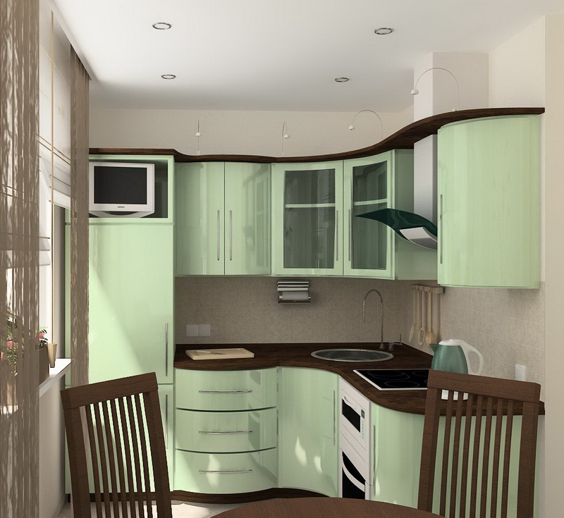 Кухня в хрущевке с холодильником - 40 интересных идей