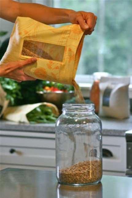 Мешочки для сыпучих продуктов. Идея для дома и дачи,шитье