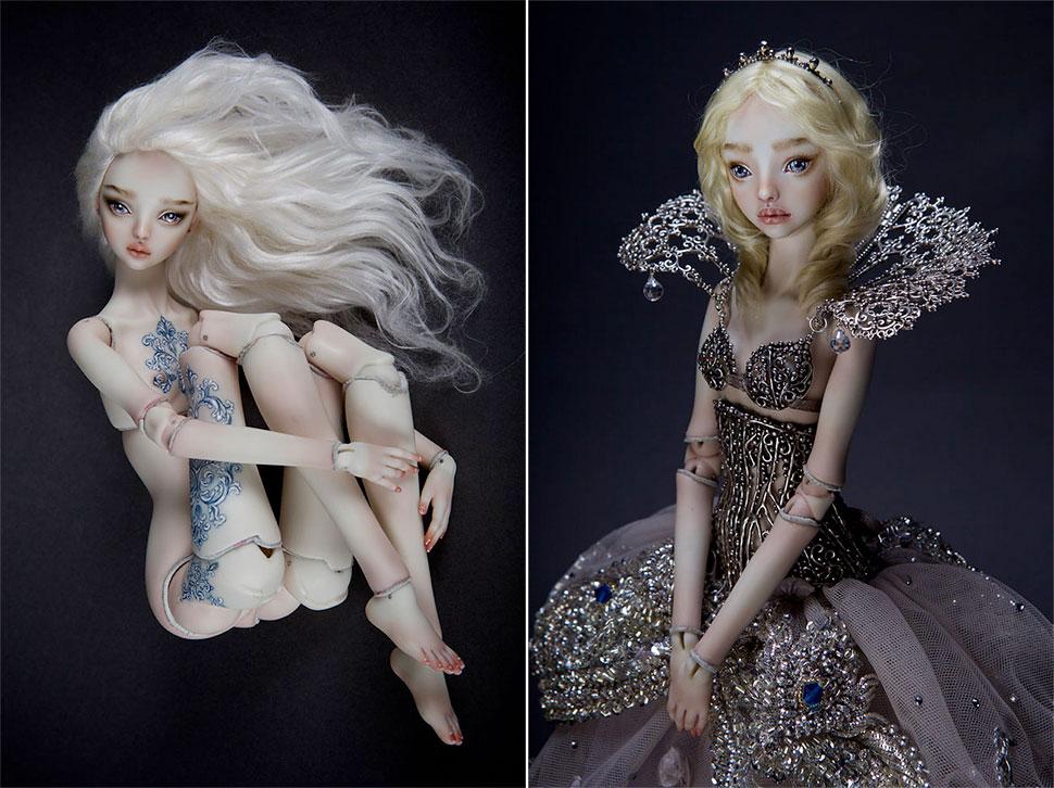 Заколдованные ипугающе эротичные куклы Марины Бычковой