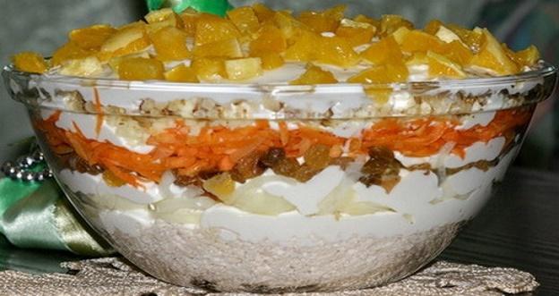 Невероятно вкусный салат «Французская любовница». Оригинальное сочетание кислинки и нежности!
