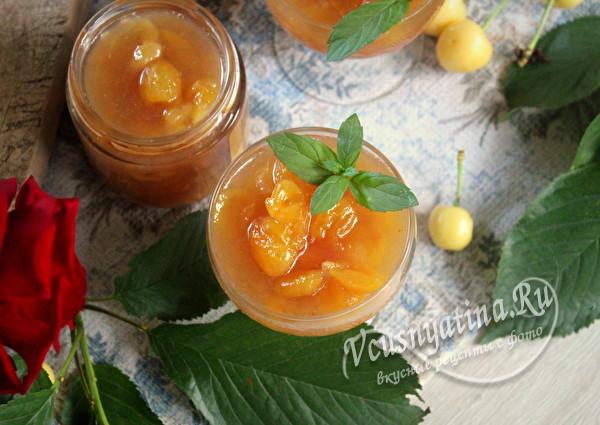 Рецепт варенья из белой черешни с лимоном и бананом варенье,десерты,заготовки