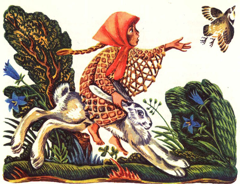 Дочь-семилетка  (Русская народная сказка)